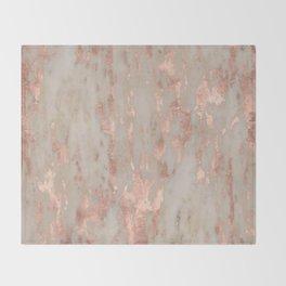 Rose gold Genoa marble Throw Blanket