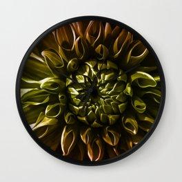 Dahlia multicolor Wall Clock