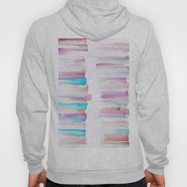 12  | 181101 Watercolour Palette Abstract Art | Lines | Stripes | Hoody