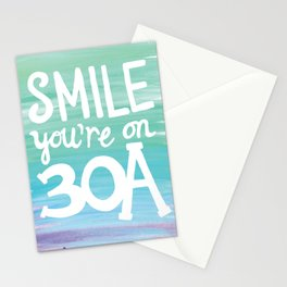Smile You're on 30A Stationery Cards