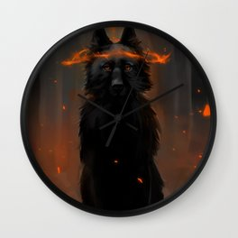 Crowned Wolf Wall Clock