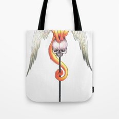 Winged Cat  Tote Bag