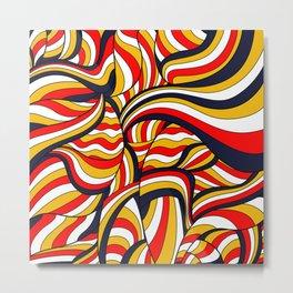 African Style No17, Desert Waves Metal Print