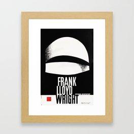 Frank Lloyd Wright - Vintage Polish Poster - Guggenheim Framed Art Print
