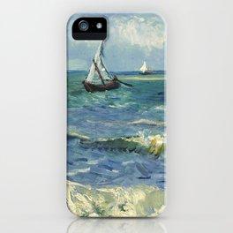 Seascape near Les Saintes Maries de la Mer by Vincent van Gogh iPhone Case