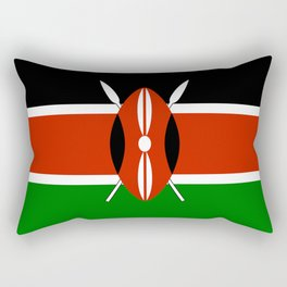 National flag of Kenya - Authentic version, to scale and color Rectangular Pillow