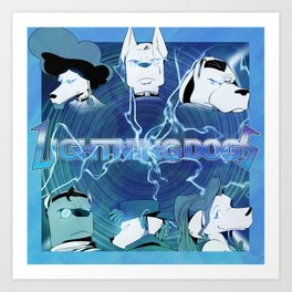 Lightning Dogs: Farfetched :: by Tony Baldin Art Print