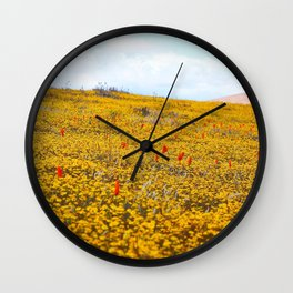 Yellow Ochre Wall Clock