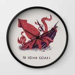 squid goals #squadgoals shirt Wall Clock