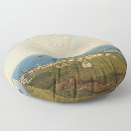 'Coastal Scene and Tidal Ponds' landscape by Gilbert Munger Floor Pillow