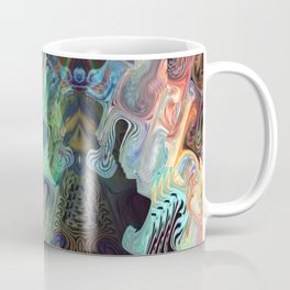 Birds of Paradise Peacock Feather Colors Coffee Mug