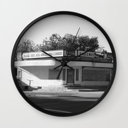 Black and White Grocery 1 Wall Clock