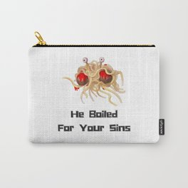 Flying Spaghetti Monster - He Boiled For Your Sins Carry-All Pouch