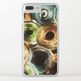 Circle pattern Clear iPhone Case