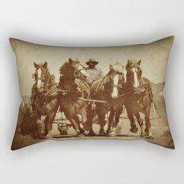 Team Of Horses Rectangular Pillow