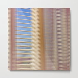 Window & Curtain Metal Print