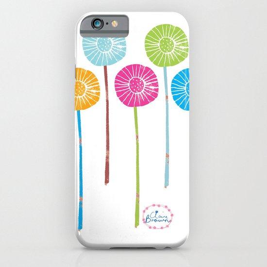 Lino Cut Flowers iPhone & iPod Case