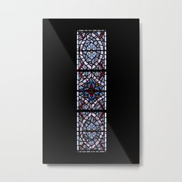 Stained Glass Stairwell Tower of London England Metal Print