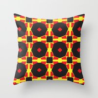 chad wys Throw Pillows featuring Anne-Lise in Chad by Marielle Loussot
