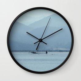 Fisherman on Inle Lake Wall Clock