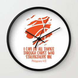 Faith I Can Do Things Through Christ Who Strengthens Me Wall Clock