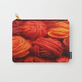Many Balls of Wool in Shades of Red Carry-All Pouch