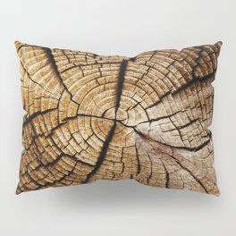 Ol' and weathered log Pillow Sham