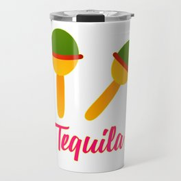Cinco De Mayo Maracas Design Travel Mug