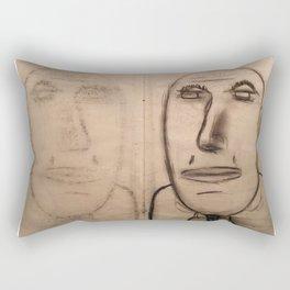 mirror of charcoal Rectangular Pillow