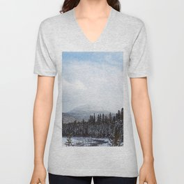 Winter in the Mountains Unisex V-Neck