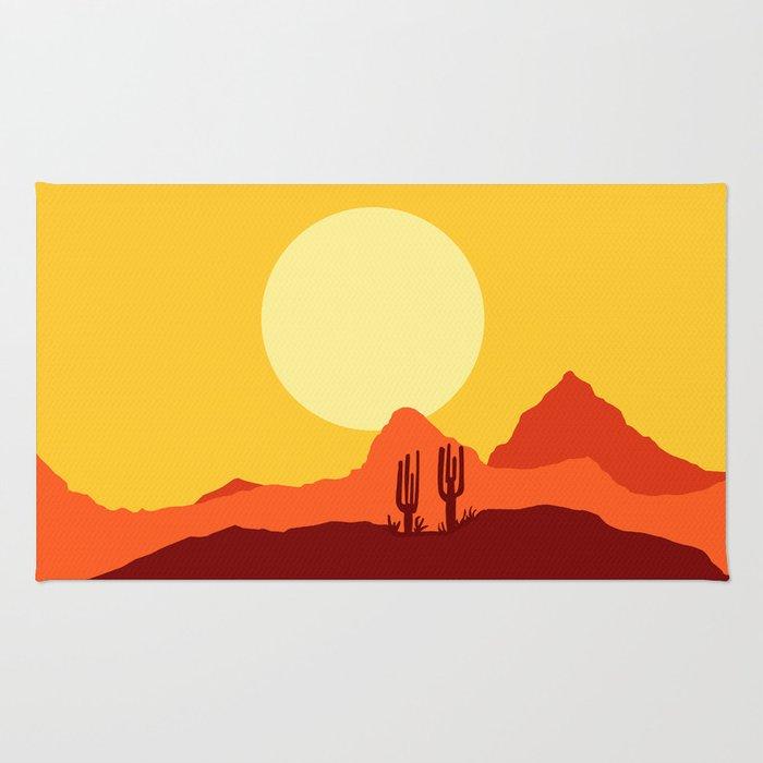 Mojave desert scene Rug