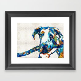 Great Dane Art - Stick With Me - By Sharon Cummings Framed Art Print