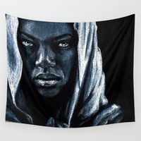 african Wall Tapestries featuring African by elenachukhriy