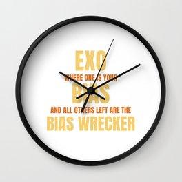 Famous & Fabulous Bias Tshirt Design Exo where one is your bias Wall Clock