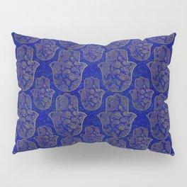 Hamsa Hand pattern - gold on lapis lazuli Pillow Sham