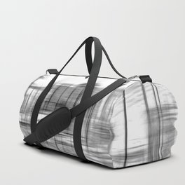 pencil drawing buildings in the city in black and white Duffle Bag
