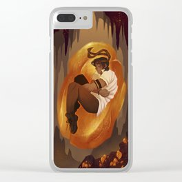Amber Light Clear iPhone Case