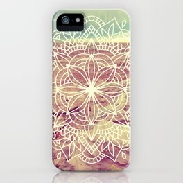 Rain Dance Desert Mandala iPhone Case