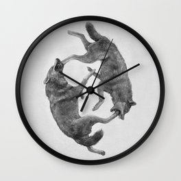 Two Wolves : Cherokee Tale Wall Clock