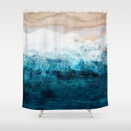 Watercolour Summer beach III Shower Curtain
