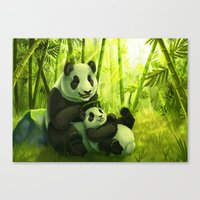 pandas Canvas Prints featuring Pandas by Keshi