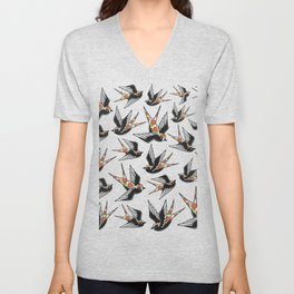Rose Sparrows Unisex V-Neck