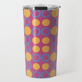 Colorful Geometric Polka Print Travel Mug