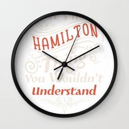 It's a Hamilton Thing  - Alexander aHAM Quotes Wall Clock