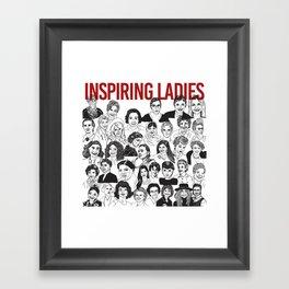 Inspiring Ladies Framed Art Print
