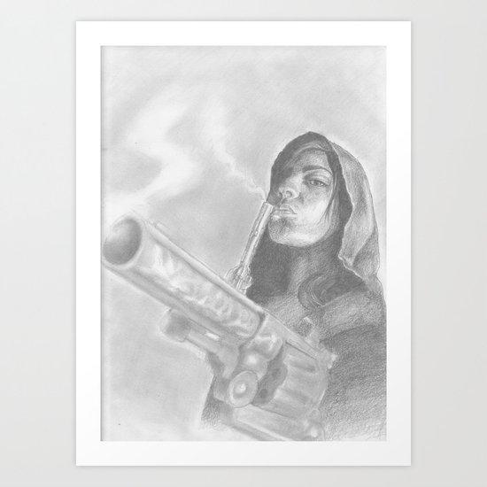 smoking guns Art Print