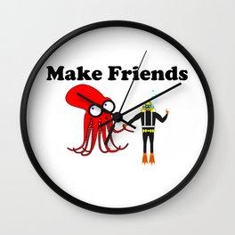 Make Friends Wall Clock