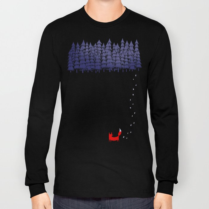 Alone in the forest Long Sleeve T-shirt