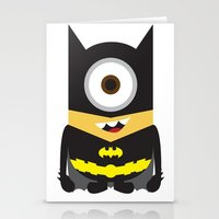 superheros Stationery Cards featuring Minion - Superheros B by Antonia Elena