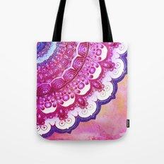 Colorful Watercolor Mandala Tote Bag